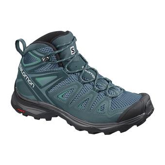 Salomon X ULTRA 3 AERO - Chaussures randonnée Femme blue/refl pond