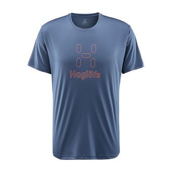 Camiseta hombre GLEE tarn blue/cayenne
