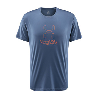 Haglofs GLEE - Camiseta hombre tarn blue/cayenne