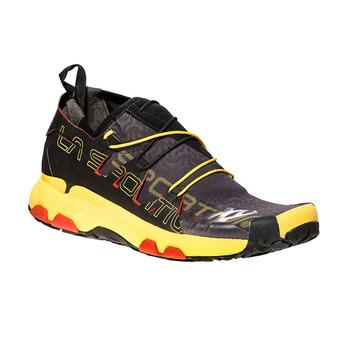La Sportiva UNIKA - Chaussures trail Homme black/yellow