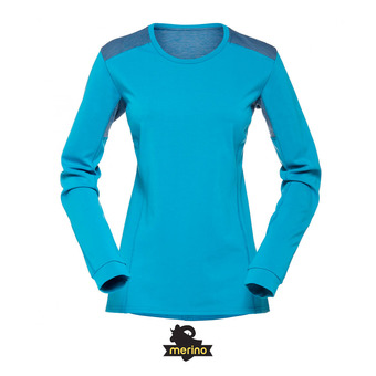 Maillot ML femme FALKETIND SUPER WOOL blue moon