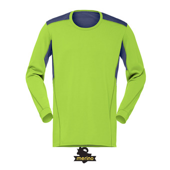 Norrona SUPER WOOL - Camiseta hombre birch green