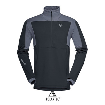 Polaire 1/2 zip Polartec® homme FALKETIND WARM1 STRETCH caviar