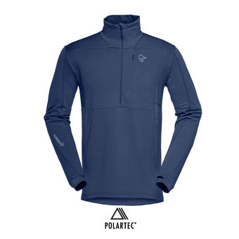Polaire 1/2 zip Polartec® homme FALKETIND WARM1 STRETCH indigo night