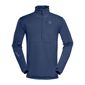 Polartec® Fleece - 1/2 Zip - Men's - FALKETIND WARM1 STRETCH indigo night
