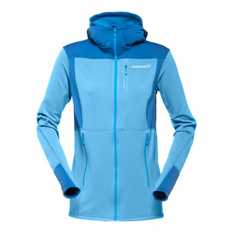 Hooded Polartec® Fleece - Women's - FALKETIND WARM1 blue moon