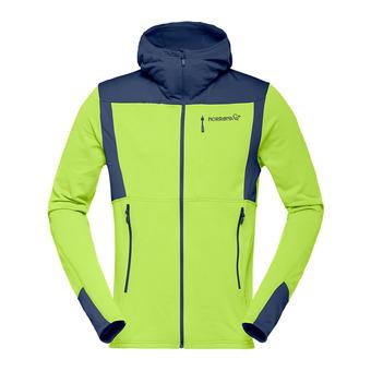 Polaire zippé à capuche Polartec® homme FALKETIND WARM1 birch green