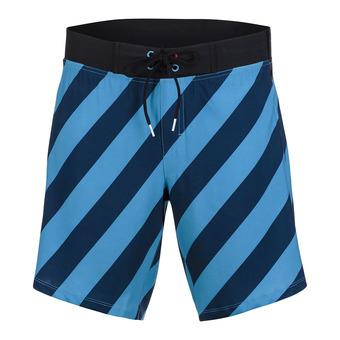 "Short hombre BOARDSHORT 8"" blue stripe"