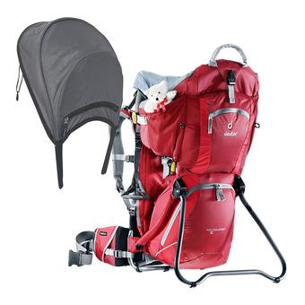 Mochila portabebé 16L KID COMFORT II + sombrilla/paraguas frambuesa/rojo