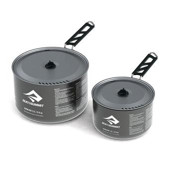 Set de 2 casseroles 1,2L/2,7L ALPHAPOT aluminium