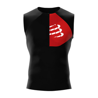 Compressport TRIATHLON POSTURAL - Jersey - Men's - black