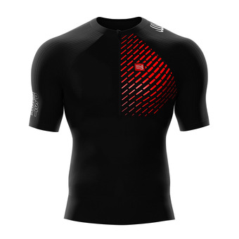 Maillot de compression MC homme TRAIL RUNNING POSTURAL noir