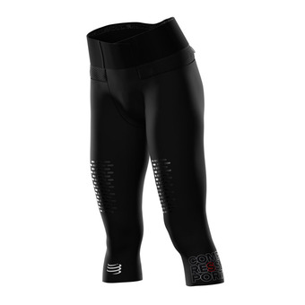 Compressport TRAIL RUNNING UNDER CONTROL - 3/4 Tights - Women's - black