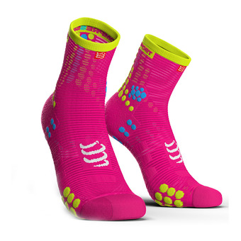 Chaussettes montantes femme PRORACING V3 RUN rose fluo