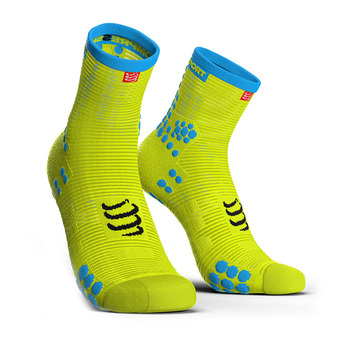 Compressport PRORACING V3 RUN HIGH - Chaussettes fluo yellow