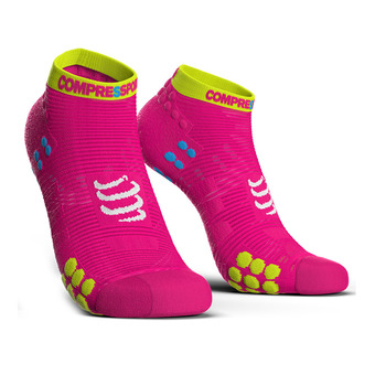 Compressport PRORACING V3 RUN - Chaussettes fluo pink