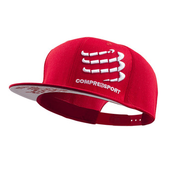 Compressport FLAT - Gorra red