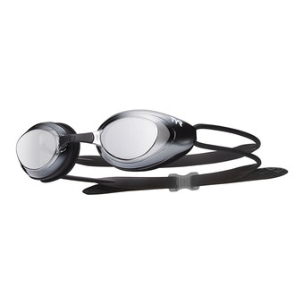 Gafas de natación BLACKHAWK RACING MIRRORED black/silver-metal silver