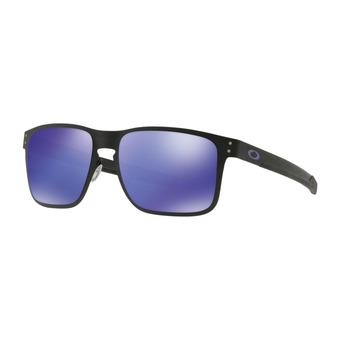Oakley HOLBROOK METAL - Lunettes de soleil matte black/violet iridium