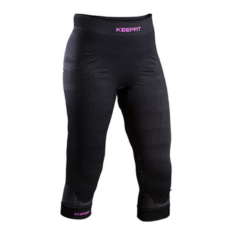 Piratas anticelulitis mujer KEEP FIT 3/4 negro