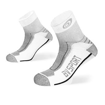 Bv Sport DOUBLE POLYAMIDE LOW - Calze bianco/grigio