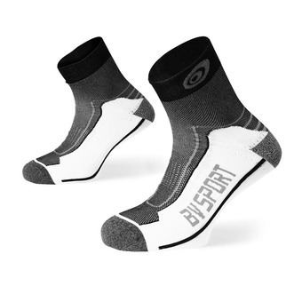 Bv Sport DOUBLE POLYAMIDE LOW - Calcetines black/grey