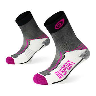 Bv Sport DOUBLE POLYAMIDE MID - Calcetines mujer black/pink
