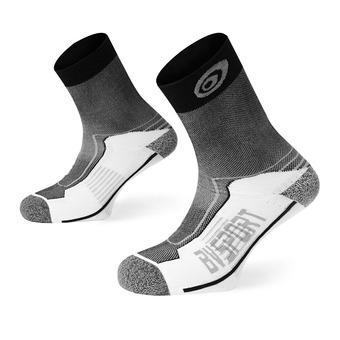Bv Sport DOUBLE POLYAMIDE MID - Calcetines black/grey