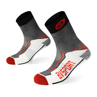 Bv Sport DOUBLE POLYAMIDE MID - Calcetines black/red