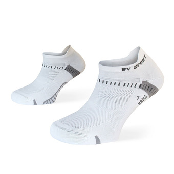 Lot de 2 paires de socquettes de running LIGHT ONE ULTRAS COURTES noir/blanc