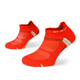Pack de 2 pares de calcetines de running LIGHT ONE ULTRAS COURTES negro/rojo