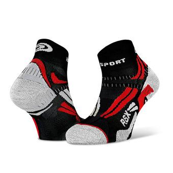 Bv Sport RSX EVO - Calze nero/rosso
