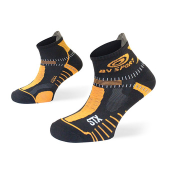 Socquettes de trail STX EVO noir/orange