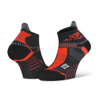 Bv Sport STX EVO - Calze nero/rosso