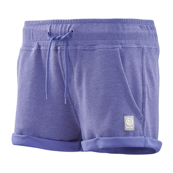 SKINS Activewear Output Sport Womens Short 2 Inch Blackberry/Marle Femme Blackberry/Marle