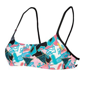 Arena BANDEAU PLAY - Bikini Top - Women's - black/multi