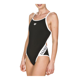 Arena TEAM STRIPE SUPER FLY BACK - Bañador mujer black/white