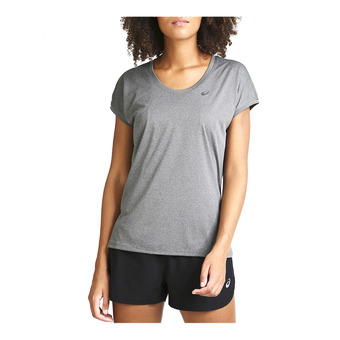 Asics CAPSLEEVE - Maglia Donna dark grey heather