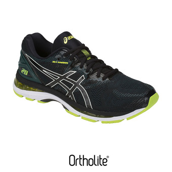 e90a7a9181 -40% Chaussures running homme GEL-NIMBUS 20 black/neon lime