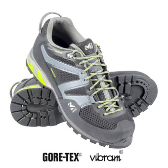 Millet TRIDENT GTX - Approach Shoes - Men's - black/acid green