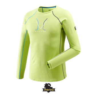Camiseta térmica hombre TRILOGY WOOL acid green