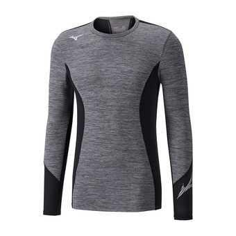 Mizuno VIRTUAL BODY G2 CREW - Camiseta térmica hombre heathergrey/black