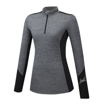 Mizuno VIRTUAL BODY G2 H/Z - Maglia termica Donna heathergrey/black