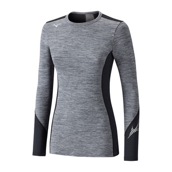 Mizuno VIRTUAL BODY G2 - Camiseta térmica mujer heather grey/black