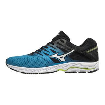 Zapatillas de running hombre WAVE SHADOW 2 blue jewel/silver/safety yellow