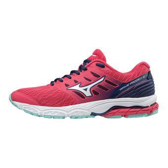 Mizuno WAVE PRODIGY 2 - Zapatillas de running mujer teaberry/white/blue depths