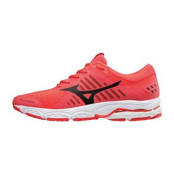 Zapatillas de running mujer WAVE STREAM fiery coral/black/white