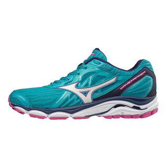 Zapatillas de running mujer WAVE INSPIRE 14 peacock blue/white/fushia purple