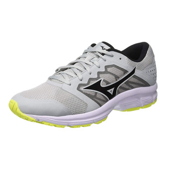 Mizuno EZRUN LX - Chaussures running Homme high rise/black/safety yellow