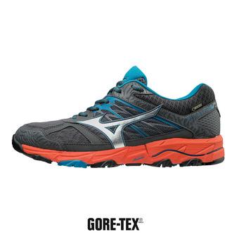Chaussures de trail homme WAVE MUJIN 5 GTX dark shadow/silver/cherry tomato